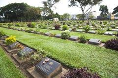 Kanchanaburi War Cemetery, Thailand Royalty Free Stock Photos