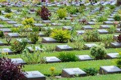 Kanchanaburi war cemetery Stock Photography