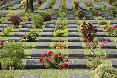 Kanchanaburi War Cemetery Stock Photos