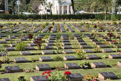 Kanchanaburi War Cemetery Stock Images