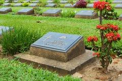 KANCHANABURI WAR CEMETERY Stock Photo