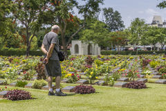 KANCHANABURI WAR CEMETERY Royalty Free Stock Photo