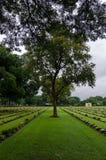 Kanchanaburi War Cemetery Royalty Free Stock Photography