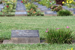 KANCHANABURI WAR CEMETERY is a tourism location Royalty Free Stock Photo