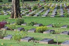 KANCHANABURI WOJENNY cmentarz To jest Wa fotografia stock