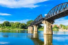 Kanchanaburi & x28; Thailand& x29; , Il ponte sul fiume Kwai Fotografie Stock