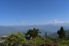 Kanchanjungha,大吉岭纯净的秀丽从Batasialoop的 免版税库存图片