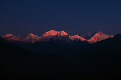 Kanchendzonga range at dawn Stock Images