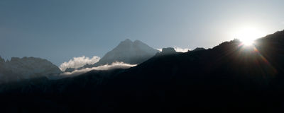 Kanchenjunga Royalty Free Stock Photos