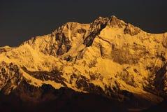 登上Kanchenjunga 免版税库存照片