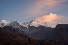 Kanchenjunga de uma distância Foto de Stock Royalty Free