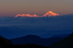 Kanchenjunga mountain peak, Sikkim Stock Photos