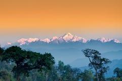 Kanchenjunga mountain range , Himalayan mountain in backdrop, Sikkim Royalty Free Stock Photography
