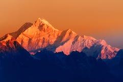 Kanchenjunga mountain range , Himalayan mountain in backdrop, Sikkim Royalty Free Stock Photo