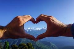 Kanchenjunga mountain, Sikkim Himalaya. India. Kanchenjunga mountain. Third mountain in the world by hight - 8586 m. Sikkim Himalaya. India royalty free stock image