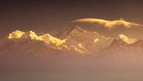 Kanchenjunga range peak Royalty Free Stock Photography
