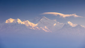 Kanchenjunga range peak Stock Photos