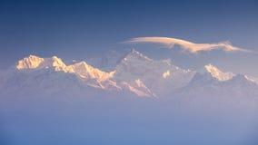 Kanchenjunga range peak Stock Photos