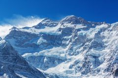 Kanchenjunga region. Scenic view of mountains, Kanchenjunga Region, Himalayas, Nepal royalty free stock photography