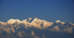 Kanchenjunga: Second highest peak in the world Stock Photos