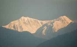 Kanchenjunga from Yoksum Stock Image