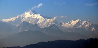 Kanchenzonga from mamkhin dara Royalty Free Stock Photography