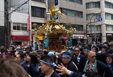 KANDA, ΤΌΚΙΟ, ΙΑΠΩΝΊΑ - 12 ΜΑΐΟΥ 2019: Ιαπωνικό φεστιβάλ Kanda Matsuri στοκ φωτογραφία με δικαίωμα ελεύθερης χρήσης