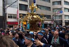 KANDA TOKYO, JAPAN - 12 MAJ 2019: Japansk festival Kanda Matsuri royaltyfri foto