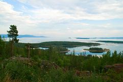 Kandalaksha Bay. Russia, view for the Kandalaksha Bay of the White sea, Kolsky Peninsula stock photo