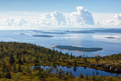 Kandalaksha Bay of the White Sea, Russia stock photo