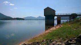 Kandalama Sluice and lake Sri lanaka stock images