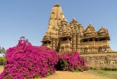 Kandariya Mahadeva寺庙 库存照片