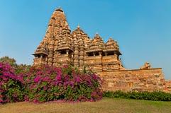 Kandariya Mahadeva świątynia w Khajuraho Obrazy Royalty Free