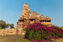 Kandariya Mahadeva świątynia w Khajuraho Obraz Royalty Free