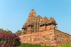 Kandariya Mahadeva świątynia w Khajuraho Fotografia Stock