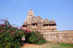 Kandariya Mahadeva tempel i Khajuraho, Indien Royaltyfri Fotografi
