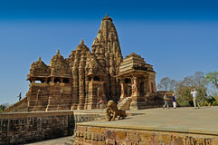 Kandariya Mahadeva tempel, Khajuraho, Indien Arkivfoto