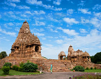 Kandariya Mahadeva tempel, Khajuraho, Indien. Royaltyfri Foto