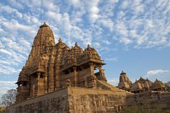 Kandariya Mahadeva Temple, dedicated to Shiva, Western Temples of Khajuraho, Madhya Pradesh, India - UNESCO world heritage site. Royalty Free Stock Image