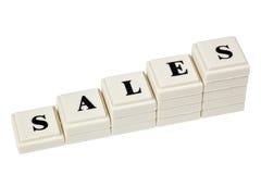 ökande försäljningar Arkivbilder