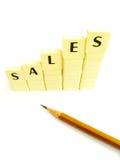 ökande försäljningar Royaltyfria Bilder