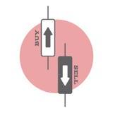 Kandelaar in handel op voorraad en muntmarkten stock illustratie