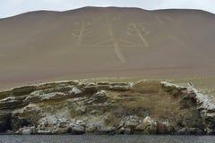 Kandelaber, Ballestas-Inseln, Peru Lizenzfreie Stockfotografie