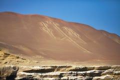 Kandelaber mönstrar, Paracas, Peru Arkivbild