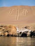Kandelaber in nationaal park Paracas royalty-vrije stock afbeelding