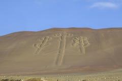 Kandelaber in Nationalpark Paracas, Peru Lizenzfreies Stockbild