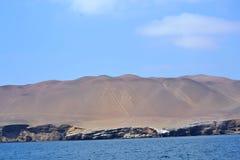 Kandelabers van Paracas, Peru Royalty-vrije Stock Foto's