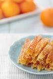 Kanderad apelsinskal Arkivbilder