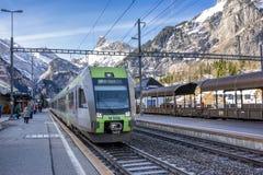 Kandersteg火车站 免版税图库摄影