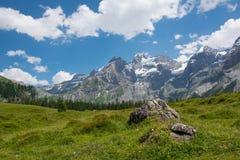 Kandersteg, Швейцария Стоковое Изображение RF